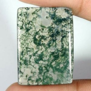 100-NATURAL-Green-Moss-Agate-Transparent-Oval-Cabochon-Loose-Gamstone-DFG3252