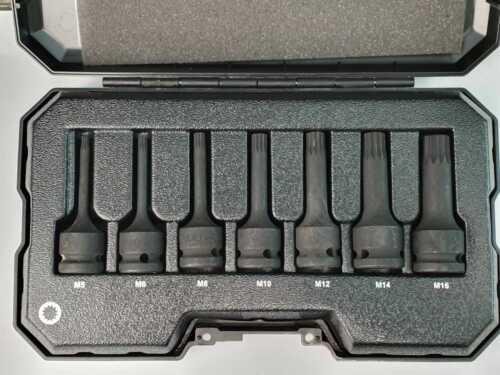 M5 M6 M8 M10 M12 M14 M16 Schlagschrauber-Nüsse 1//2 XZN Satz 7 tlg