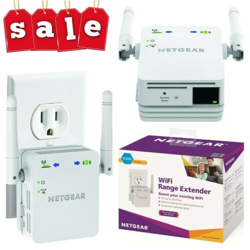 NETGEAR N300 Wall Plug Version Wi Fi Range Extender Booster WN3000RP