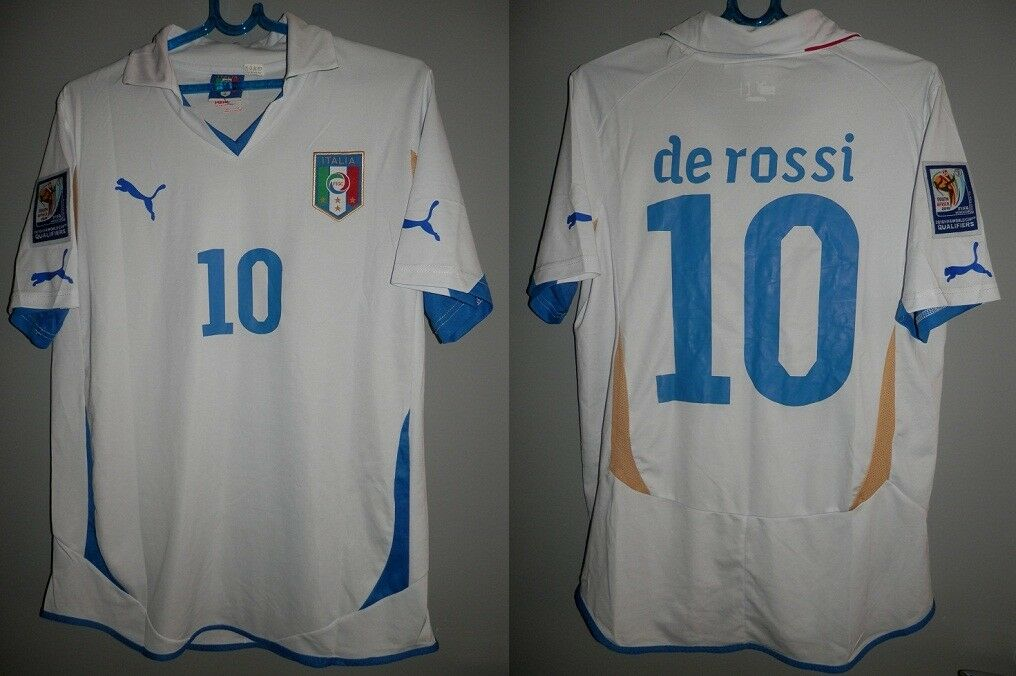 MATCH WORN SHIRT ITALIA MAGLIA DE ROSSI QUALIFIER 2010 SOUTH AFRICA JERSEY ITALY