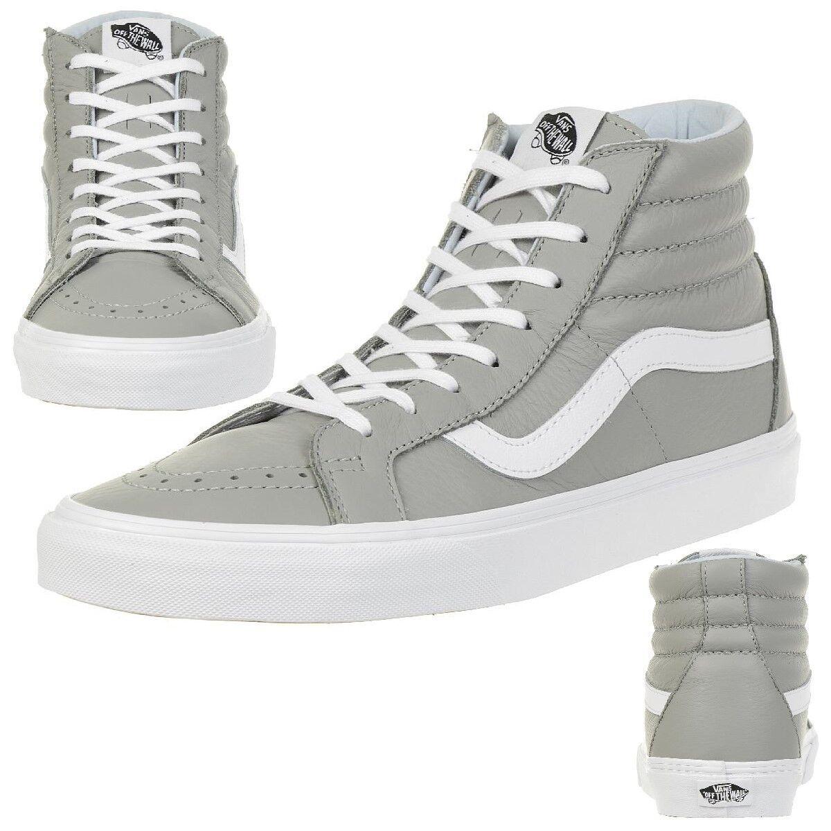 VANS Sk8-Hi Reissue L Leder Unisex-Erwachsene Sneaker VN0A2XSBQD5 grau