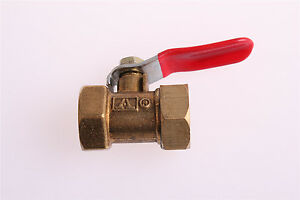 3-8PT-Female-to-Female-Threaded-Lever-Handle-Brass-Ball-Valve-Coupling-3PCS