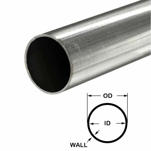 """321 Stainless Steel Round Tube 3//4/"""" OD x 0.035/"""" Wall x 48/"""" long"""
