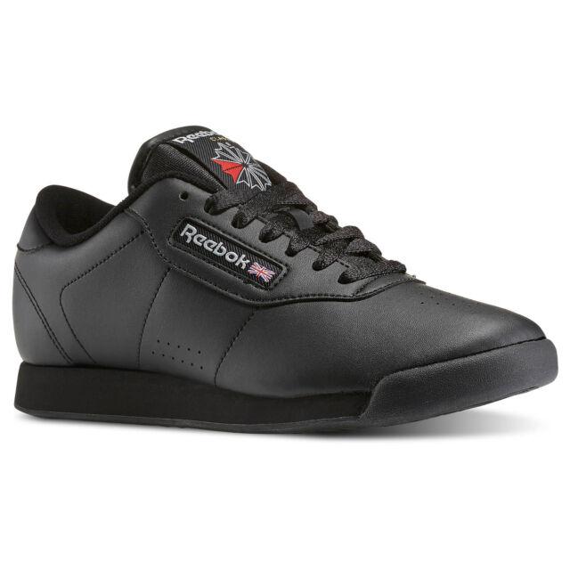 NIB Reebok Classic Princess Sneakers Tennis Shoes Black 6.5 NEW FREE SHIP