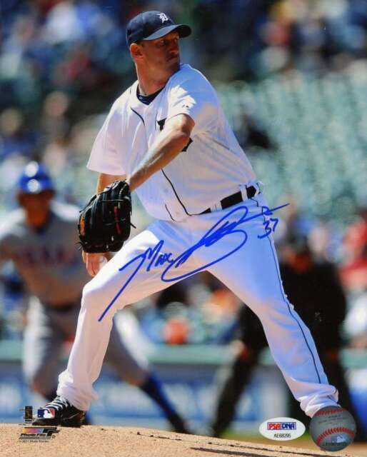 Max Scherzer Psa Dna Coa Autograph 8x10 Photo  Hand Signed Authentic