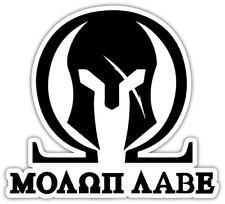 Sticker Sticker Car SPQR Biker Spartan Molon Label Warrior Helmet