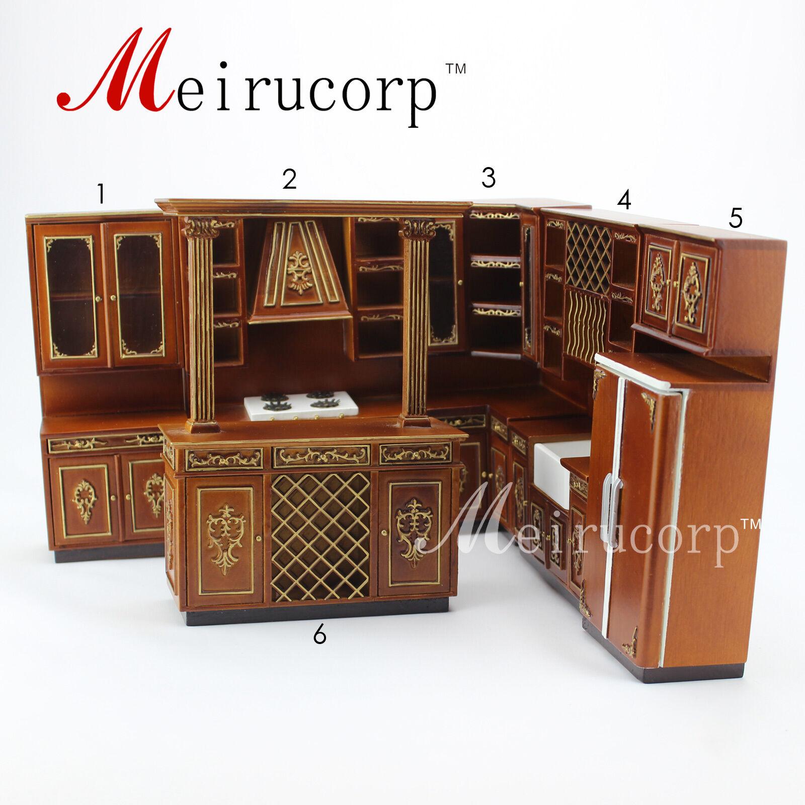 Casa de muñecas en miniatura muebles de alta calidad de escala 1 12 Conjunto de Cocina de