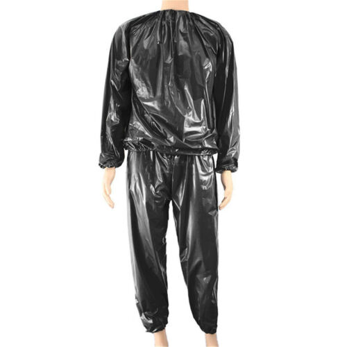 Heavy Duty Sweat Sauna Suit Gym Exercise Training Fitness Weight Loss Anti-Ri F1