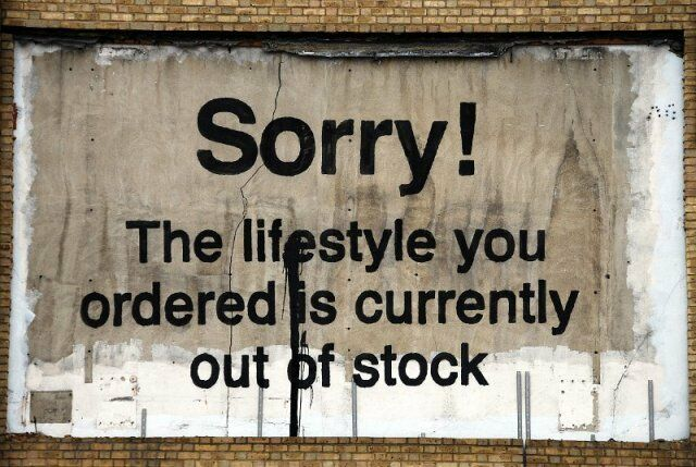 Poster BANKSY 'Sorry The lifestyle you ordered' Best Quality Wall Poster