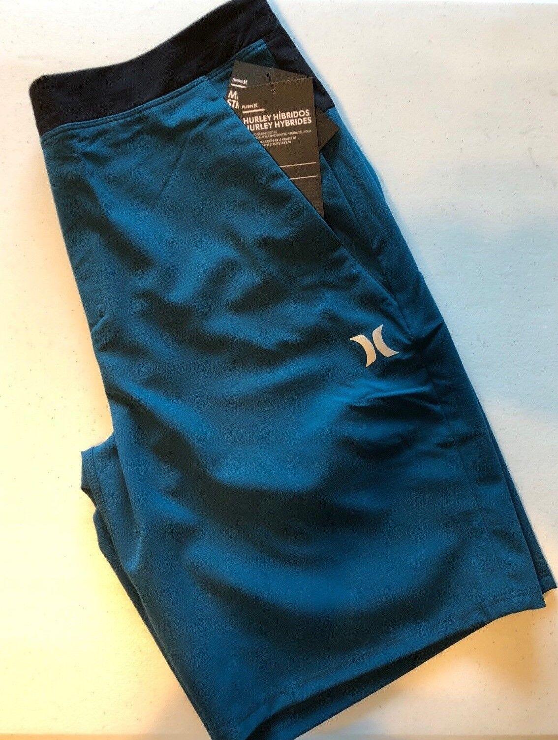 Hurley Men's S L XL Alpha Trainer Hybrids 20.5  Walk shorts MWS0005340 4CN bluee