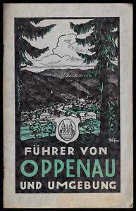 Fuehrer-und-Karte-von-Oppenau-und-Umgebung-1930er