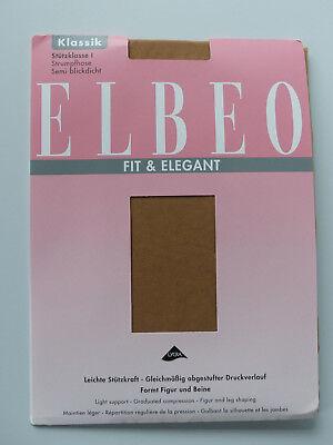 ELBEO ELEGANCE Taille 5 48//50 Collant satiné semi-opaque 40den Gobi