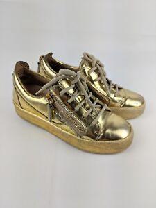 marque Femmes de chaussures Zanotti 3 sport Giuseppe authentiques Uk 100 Or Mesdames de RnqvZAwFFx