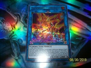NM Yu-Gi-Oh 3x Prismatic Secret Rare Salamangreat Heatleo 1st Ed MP19-EN186