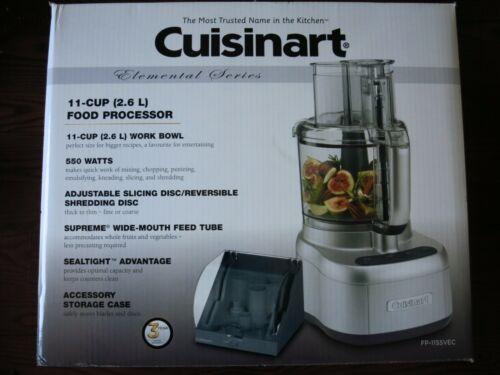 Brand New Cuisinart Elemental Series 11-Cup Food Processor FP-11SSVEC Silver