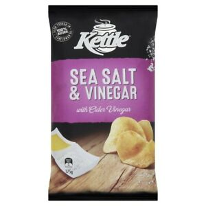 Kettle 100% Natural Sea Salt & Vinegar with Cider Vinegar Potato Chips 175g