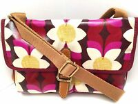 Fossil Women's Xbody Messenger Bag Keyper Pink Floral Shoulder Purse