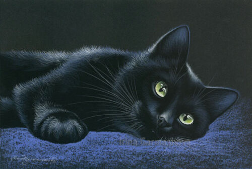 Black Cat Print Place Of Rest from an original by I Garmashova