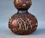 8-034-Vieille-Chine-rouge-Cuivre-Dore-prune-fleur-Bambou-Fleur-Gourdes-Vase miniature 7