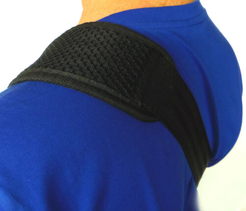 """GUITAR or BASS STRAP WITH 3/"""" WIDE SOFT SHOULDER PAD IN BLACK by CLEARWATER"""
