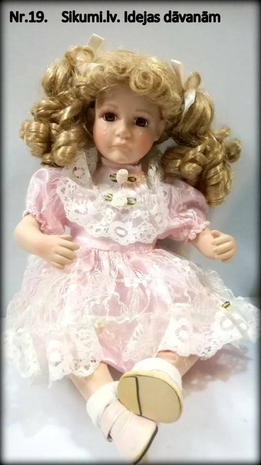 Vintage collection porcelain crybaby doll, 16