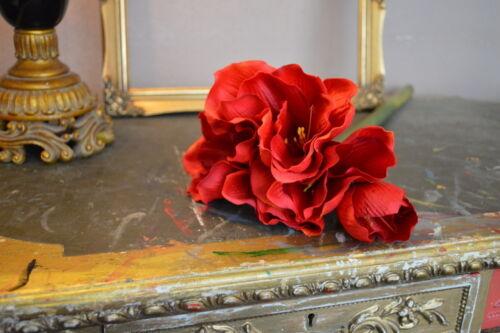 Bunch of 4 Red Queen Amaryllis Luxury Silk Artificial Flowers