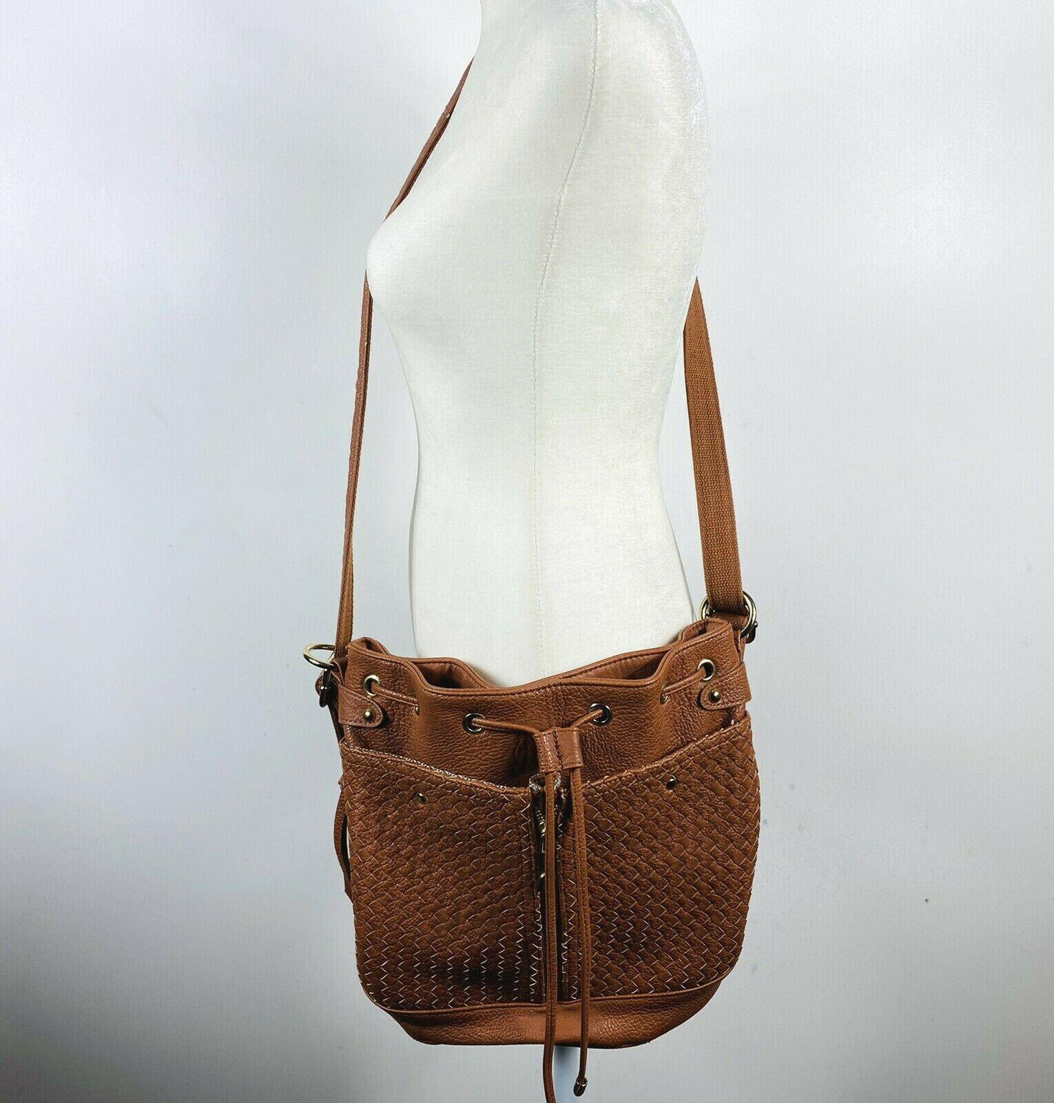 Steve Madden Brown Woven Crossbody Bag