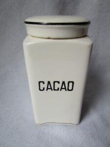 Details zu schöne alte Keramik Dose Vorratsdose Max Roesler Vorratsgefäss Deckeldose CACAO