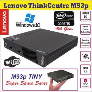 LENOVO-ThinkCentre-M93p-Intel-Core-i5-4570T-PC-Desktop-Micro-2-9GHz-Wi-Fi-Win10P