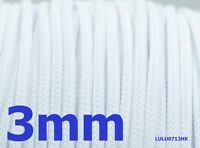 3mm White Expandable Braided DENSE Cable Sleeve x5m