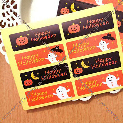 8 seals cute halloween sticker gift wrapping food decor envelope seal