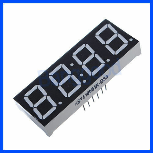 "0.56"" 7-Segment 4 Digit Super Red LED Display Common Anode Time 12 pins NEW"