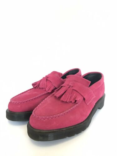 Dr. Marten Adrian Loafer In Pink Suede Size 8