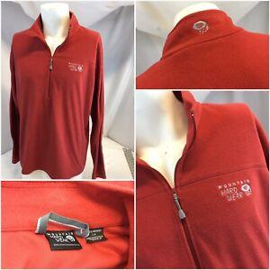 Mountain-Hard-Wear-Fleece-Pullover-L-Red-1-4-Zip-No-Flaws-YGI-C9-656