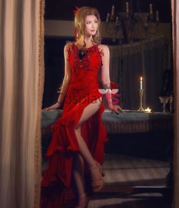 Final Fantasy VII Remake Aerith Aeris Gainsborough Costume Cosplay Red Dress