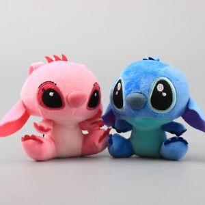 Lindo-Juguete-de-Felpa-Stitch-Lilo-and-Colgante-Llavero-Colgador-Muneca-Chica-Colgante-Mini