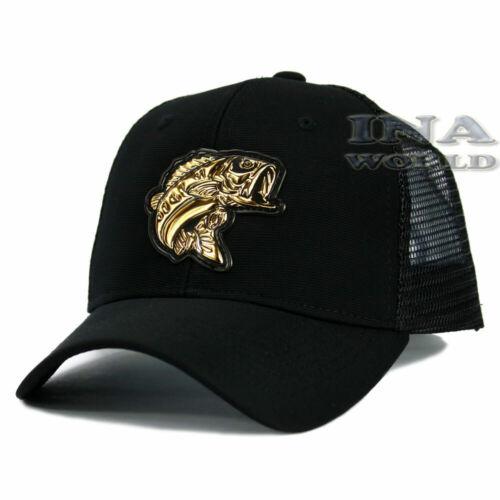 FISHING hat FISH Gold Patched Pique cap Mesh Trucker Snapback Baseball cap