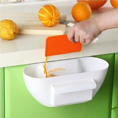 Kitchen Cabinet Door Mounted Desktop Garbage Rubbish Storage Trash Box Organizer