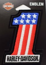 Genuine Harley Davidson American Flag Style Number #1 Emblem Patch EM227841