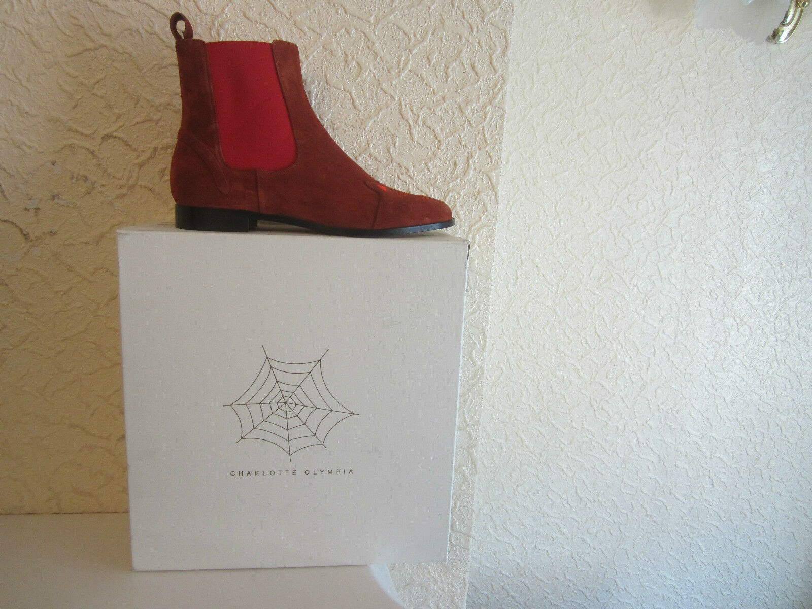 Charlotte Olympia 'Chelsea Cat' Suede Ankle Boots