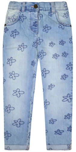 Baby Girls Jeans New Cotton Floral Denim Pants Age 18 24 Months 2 3 4 5 Years