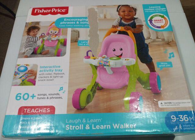 Fisher-Price Stroll & Learn Walker, Pink New