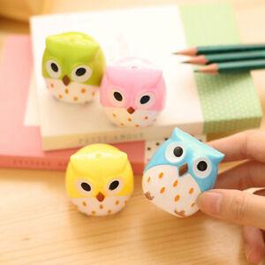 Cute Plastic Owl Pencil Sharpener Cutter Stationery Kids School Office Supplies