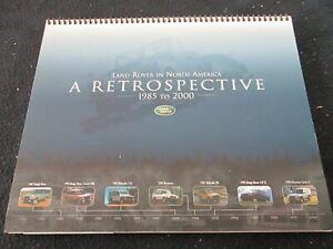 1985-2000 Land Rover Rare DEALER Book Range Rover Defender Discovery Brochure