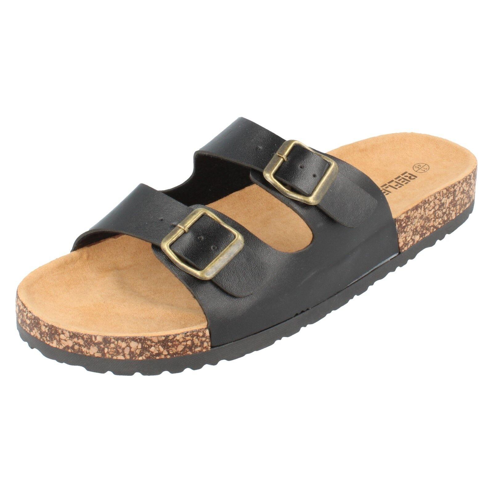 Sale Mens Reflex black synthetic mule sandal A0042