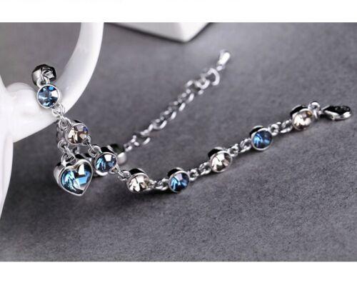 Pulsera plata brazalete bisutería señora regalo de Navidad corazón regalo noble