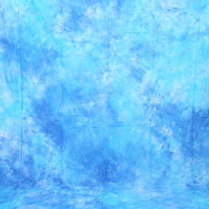 Photo Studio 6x9Ft Tie-dyed Blue Muslin Backdrop 100% Cotton Background Seamless