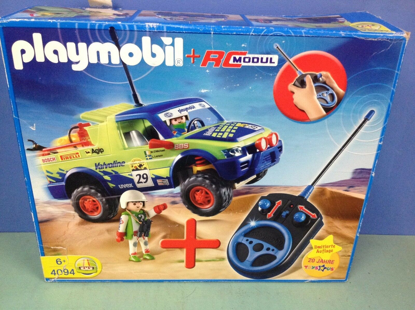 (O4094) playmobil Set exclusif 4x4 Paris Dakar + télécommande ref 4094 en boite