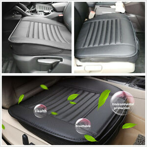 breathable pu leather bamboo charcoal car office seats chair cover cushion black ebay. Black Bedroom Furniture Sets. Home Design Ideas