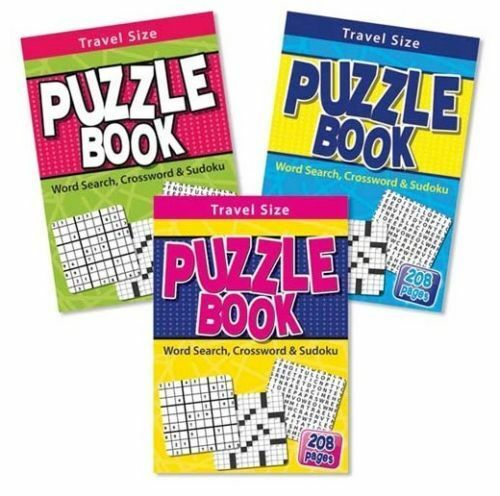 Tallon Travel Size Puzzle Book Contains Word Search Crossword Sudoku Puzzles D32